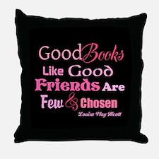 Books & Friends Throw Pillow