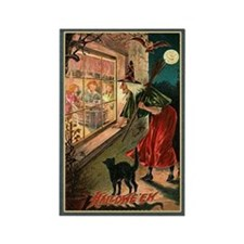 Watchful Witch Rectangle Magnet