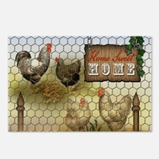 Home Sweet Home Chickens Postcards (Package of 8)