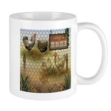 Home Sweet Home Chickens and Roosters Mugs
