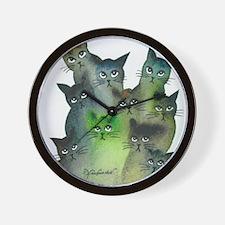 Strasbourg Stray Cats Wall Clock