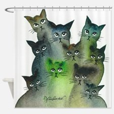 Strasbourg Stray Cats Shower Curtain