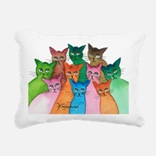 Cayo Stray Cats Rectangular Canvas Pillow