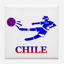 Chile Soccer Player Tile Coaster
