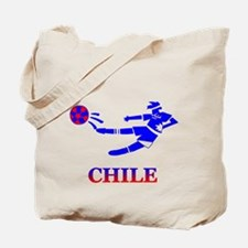 Chile Soccer Player Tote Bag