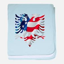 Albanian American Eagle baby blanket
