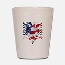 Albanian American Eagle Shot Glass