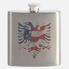 Albanian American Eagle Flask