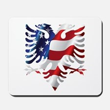 Albanian American Eagle Mousepad