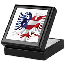 Albanian American Eagle Keepsake Box