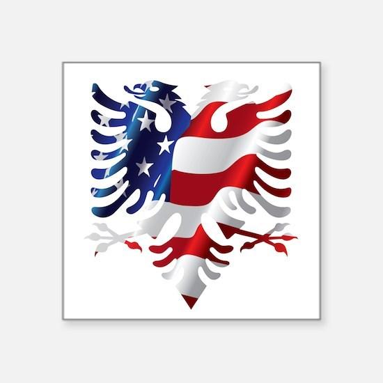 Albanian American Eagle Sticker