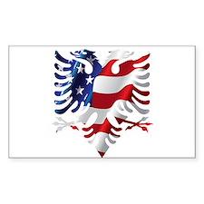 Albanian American Eagle Decal