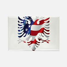 Albanian American Eagle Magnets