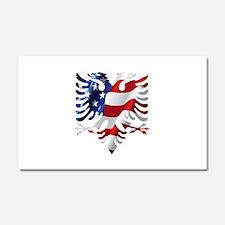 Albanian American Eagle Car Magnet 20 x 12