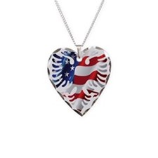Albanian American Eagle Necklace