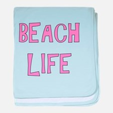 BEACH LIFE - PINK baby blanket