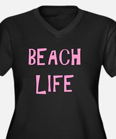 BEACH LIFE - PINK Plus Size T-Shirt