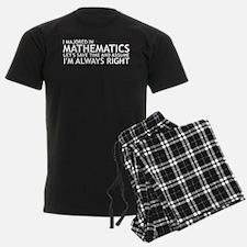 I Majored In Mathematics Pajamas