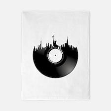 New York City Vinyl Record Twin Duvet