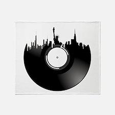 New York City Vinyl Record Throw Blanket