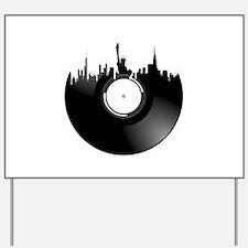 New York City Vinyl Record Yard Sign