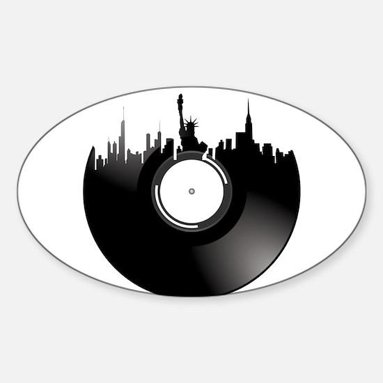 New York City Vinyl Record Decal
