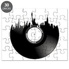 New York City Vinyl Record Puzzle