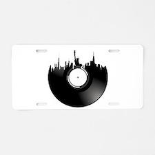 New York City Vinyl Record Aluminum License Plate