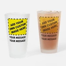 Custom Image & Message Drinking Glass