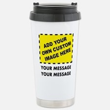 Custom Image & Message Stainless Steel Travel Mug