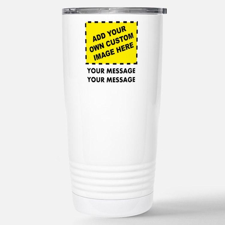 Custom Image & Message Travel Mug