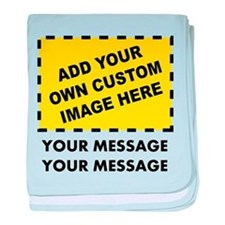 Custom Image & Message baby blanket