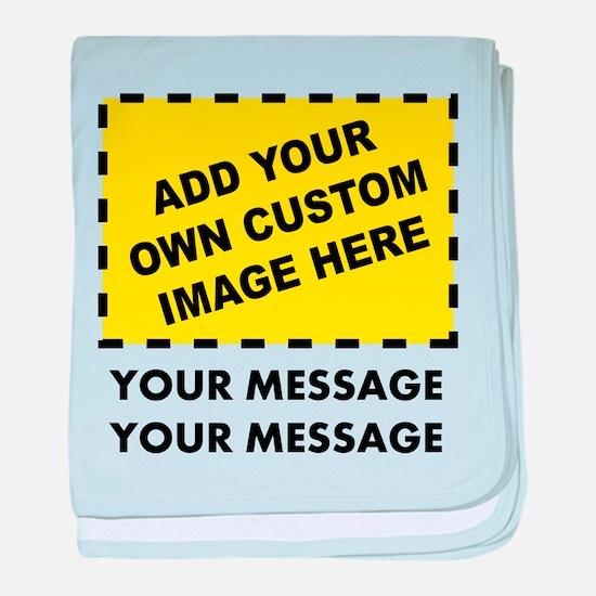 Custom Image & Message baby blanket