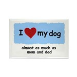 I LOVE MY DOG Rectangle Magnet (100 pack)