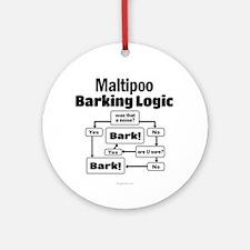 Maltipoo Logic Ornament (Round)