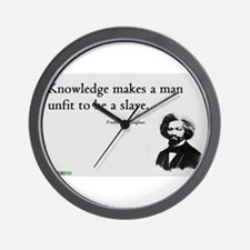 Frederick Douglas - Unfit to be a Slave Wall Clock
