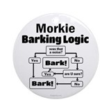 Morkie logic Round Ornaments