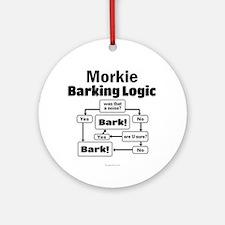 Morkie Logic Ornament (Round)