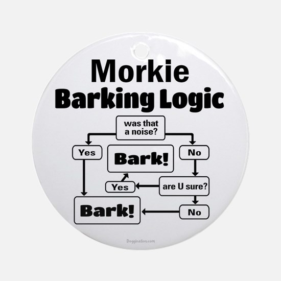Morkie Logic Ornament (Round)