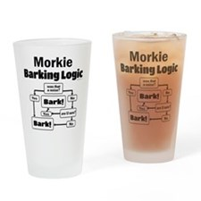 Morkie Logic Drinking Glass