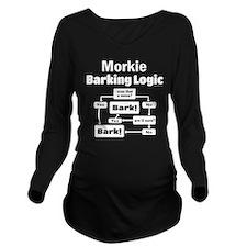 Morkie Logic Long Sleeve Maternity T-Shirt