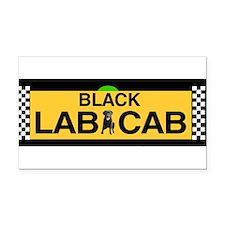 Funny Taxi cab Rectangle Car Magnet