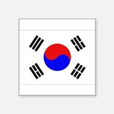 """Cute Korean flag Square Sticker 3"""" x 3"""""""
