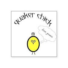 """Funny Chick Square Sticker 3"""" x 3"""""""