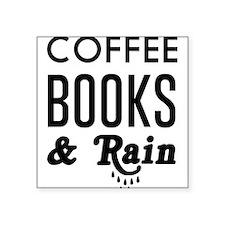 Coffee book and rain Sticker