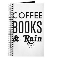 Coffee book and rain Journal