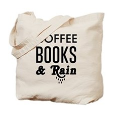 Coffee book and rain Tote Bag
