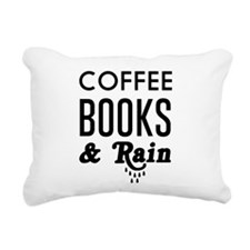 Coffee book and rain Rectangular Canvas Pillow