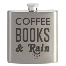 Coffee book and rain Flask