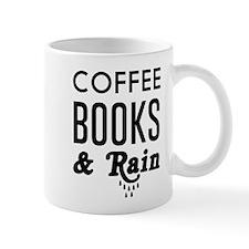 Coffee book and rain Mugs